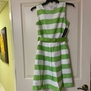 NWT Madison Leigh dress like green and white